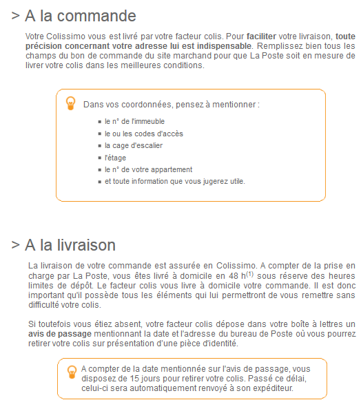 CONDITIONS COLISSIMO ABSOLUE & SENS